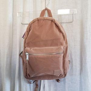 Herschel velvet XS Grove backpack in Ash Rose